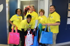 UnitedHealth Group volunteers brought a HeARTS-themed Project Sunshine party to the patients and families at Children's Healthcare of Atlanta. L to R: Jocelyn Chisholm Carter, Sherri Rushing, David Sturkey, Dr. Lessa Phillips and Garland Scott (Photo courtesy of Project Sunshine).
