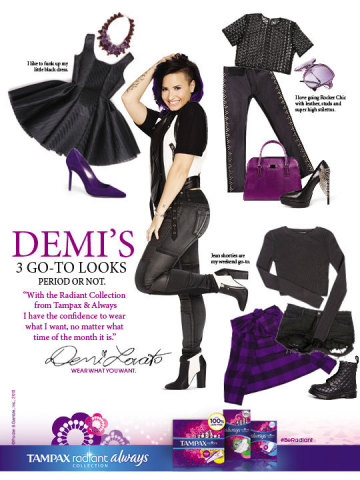 Demi Lovato's print ad for The Radiant Collection is in magazines this February. (Graphic: Business Wire)