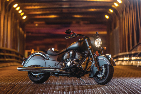 The new 2016 Indian Chief Dark Horse, bringing bold, edgy new styling and attitude to the Indian Chi