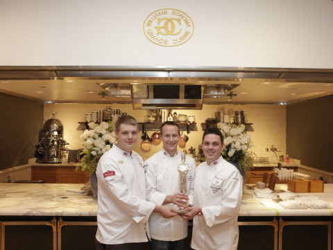 (L-R) Skylar Stover, Commis, Team USA, Phil Tessier, Chef, Team USA, Gavin Kaysen, Head Coach, Team