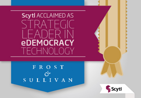 Based on its recent analysis of the government online voting and election modernization services market, Frost & Sullivan recognizes Scytl with the 2014 Global Frost & Sullivan Award for Competitive Strategy Innovation and Leadership. (Graphic: Business Wire)