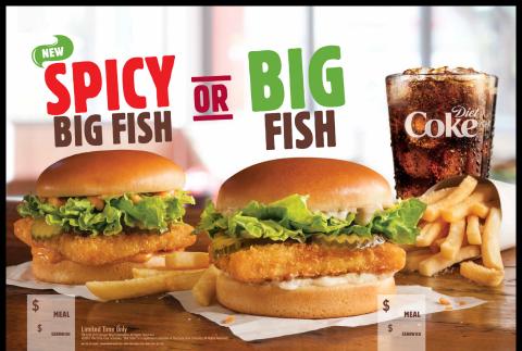 BURGER KING Restaurants Spicy Big Fish Sandwich (Photo: Business Wire)