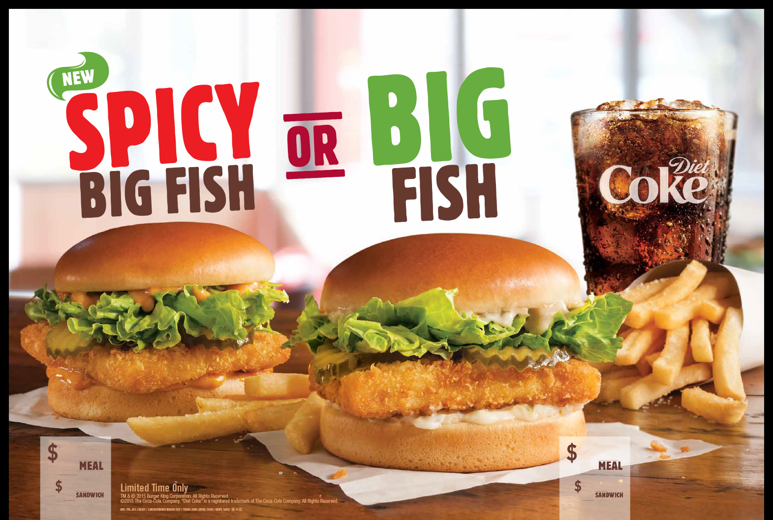 Burger King Big Fish Of Burger King Restaurants Look To Hook Guests With The New