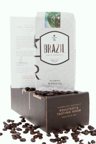 Starbucks Reserve(R) Brazil Nova Resende available starting today for a limited-time at Starbucks st