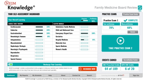 NEJM Knowledge+ Family Medicine Board Review (Graphic: Business Wire)