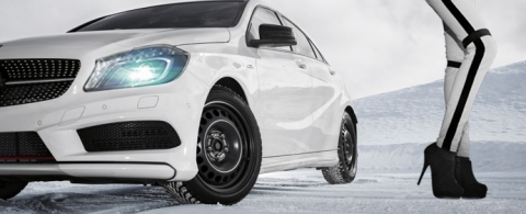 Steel complete wheel sets with TPMS can be ordered comfortably at the Delticom online shops. Photo: ALCAR/Delticom AG, Hanover (Photo: Business Wire)
