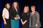 Brenda Dooley, Principle, Shannon Consulting presents the award for Most Effective Employee Engagement Strategy to Hazel Rainey, Joanne McMullan and Breda Donlon, FINEOS Corporation. (Photo: Business Wire)