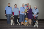 Beltrami Electric CEO Lynette Nieuwsma presented the Statewide Minnesota Touchstone Energy(R) Community Award to a group of Bemidji Area Reading Canines (B.A.R.C.) volunteers at the Minnesota Rural Electric Association annual meeting held in St. Paul on February 18. Left to Right: Lori Brama & Annie, Sue Wells & Zoy, Tracy Parthun & Brie, Ethan Larson & Diego, Lynette Nieuwsma, Pat Zea & Razzma. (Photo: Business Wire)