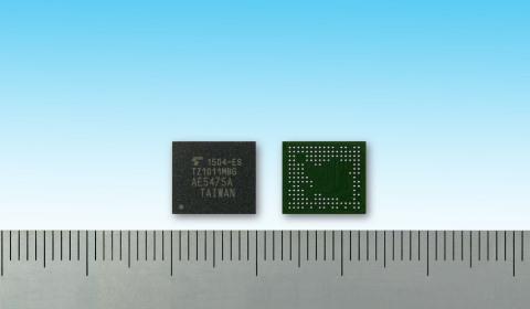 東芝:ApP Lite(TM)ファミリーのウェアラブル端末向けTZ1000シリーズ新製品「TZ1011MBG」(写真:ビジネスワイヤ)