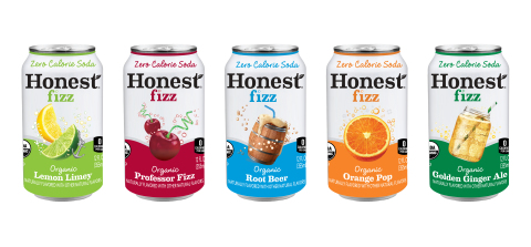 """Honest Fizz, the zero calorie soda line from Honest Tea, will transition all varieties to certified organic and add Golden Ginger Ale to the lineup."" (Photo: Business Wire)"