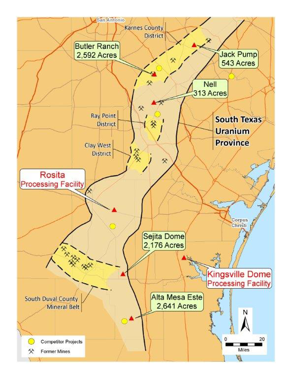 Map Of Texas Kingsville.Uranium Resources Commences Exploration Drilling In South Texas