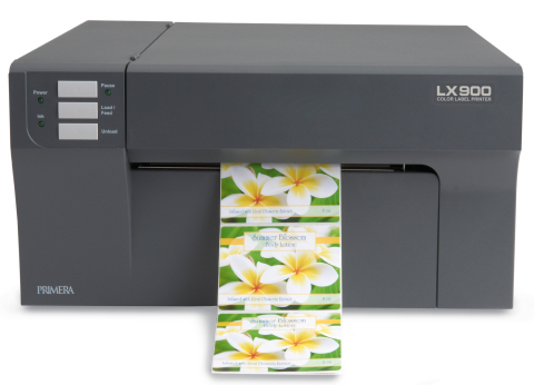 LX900 Color Label Printer now offering pigment ink for greater durability. (Photo: Business Wire)