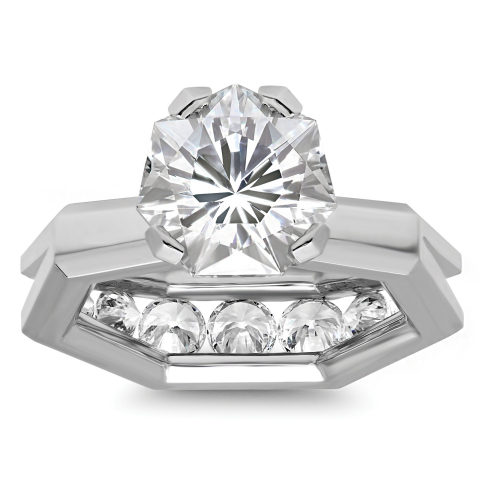 The Brikk Heptagon Engagement Ring with Heptagon Diamond in 5 carat size. 7 sides. 77 facets. www.brikk.com (Photo: Business Wire)