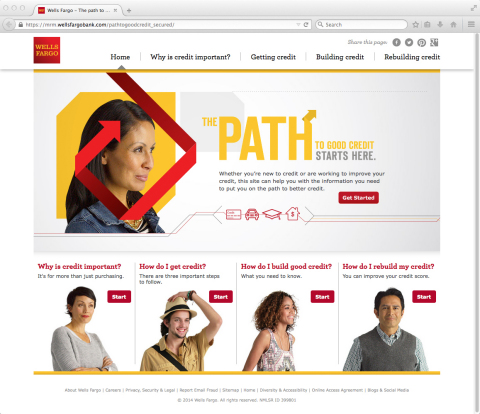 New Path to Good Credit website homepage (Graphic: Business Wire)