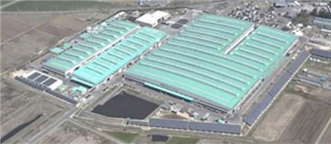 Panorama of Sekisui House Tohoku factory.