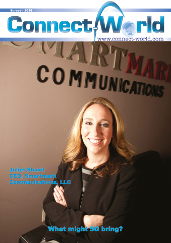 SmartMark CEO, Juliet Shavit, on the latest cover of Connect-World Magazine. (Graphic: Business Wire)