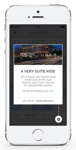 Starwood Hotels & Resorts Worldwide - SPG Uber Partnership (Photo: Business Wire)