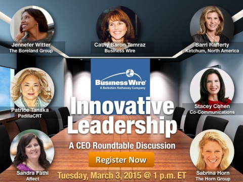 Business Wire and Top Agency CEOs Discuss Future of Strategic Communications, Tuesday, March 3 (Graphic: Business Wire)