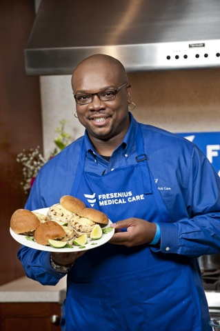 For National Kidney Month, Fresenius Medical Care is bringing celebrity chef Aaron McCargo, Jr. to Houston, Atlanta and Detroit to demonstrate how to prepare delicious dialysis-friendly dishes that patients and their families can enjoy, while staying within their dietary guidelines. (Photo: Business Wire)