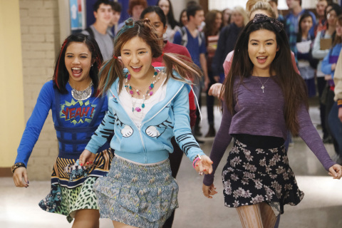 Pictured: (L-R) Jodi (Louriza Tronco), Sun Hi (Meghan Lee) and Corki (Erika Tham) in the new live-action series, Make It Pop, coming to Nickelodeon in the 2015-16 season. Photo Credit: Nickelodeon. ©2015 Viacom International, Inc. All Rights Reserved.