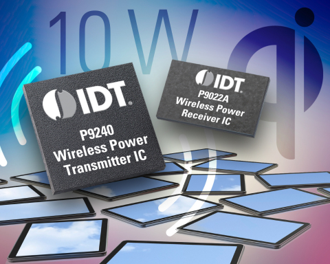 New IDT Wireless Power Chipset Untethers Tablets and Phablets (Graphic: Business Wire)