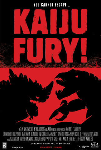 Kaiju Fury! puts you in the middle of Godzilla-style battling monsters. Experience it Dolby Atmos and Jaunt cinematic VR. (Photo: Business Wire)
