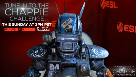 "Twitch and Sony Pictures Entertainment's Live ""Chappie Challenge"" Event (Graphic: Business Wire)"