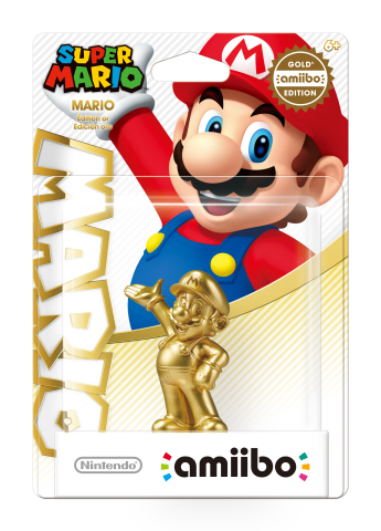 Super Mario amiibo - Gold Edition will be available on March 20 exclusively at Walmart (Photo: Busin ...