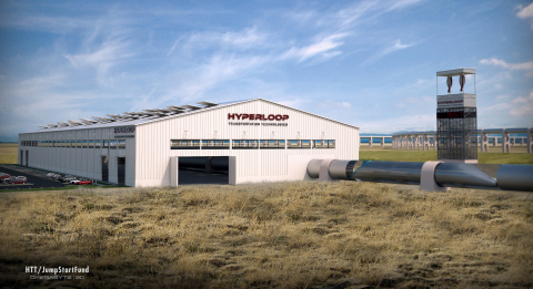 Conceptual early stage hyperloop test track (Graphic: Business Wire)