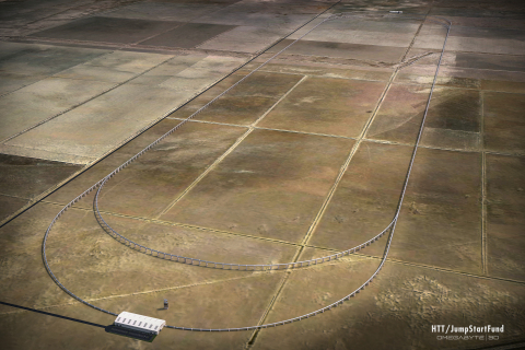 Conceptual Hyperloop Test Track (Graphic: Business Wire)