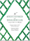 Natural Lattice wedding invitation by Mindy Weiss for Wedding Paper Divas (Graphic: Business Wire)