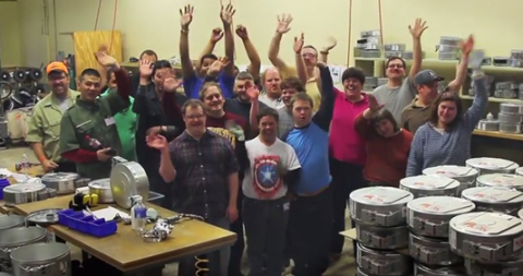 The Lifeworks team at the Stratasys recycling facility in Eden Prairie, Minnesota. The Stratasys rec ...