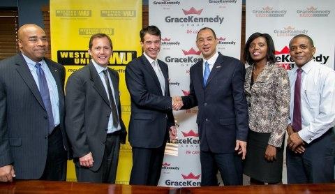 WU and GraceKennedy celebrate 25 years in Jamaica: (L-R) Sean Mason, Western Union Regional Vice Pre