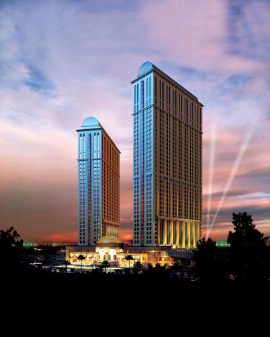 Rendering of the newly opened Hyatt Regency Dubai Creek Heights hotel (Photo: Business Wire)