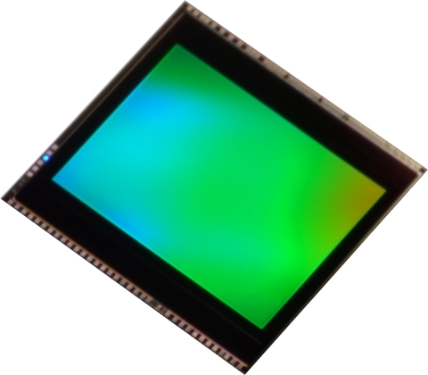"Toshiba: a 13 megapixel BSI CMOS image sensor ""T4KB3"" for smartphones and tablets. (Photo: Business  ..."