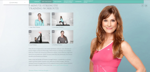 Holly Perkins' 5-minute exercise video segments on westin.com/hollyperkins (Photo: Business Wire)