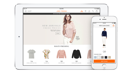 The new Joe Fresh shop-on-the-go app available on iTunes. (Photo: Business Wire)