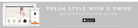 The new Joe Fresh shop-on-the-go app available on iTunes. (Graphic: Business Wire)
