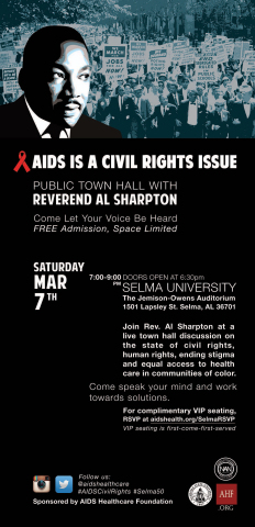 Mar. 7: Rev. Sharpton to Keynote Selma Public Town Hall (Graphic: Business Wire)
