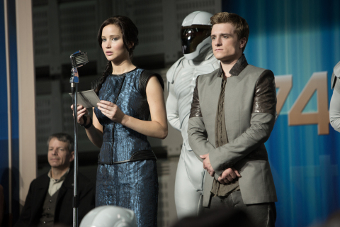 Jennifer Lawrence and Josh Hutcherson in Hunger Games: Catching Fire (Photo: Business Wire)