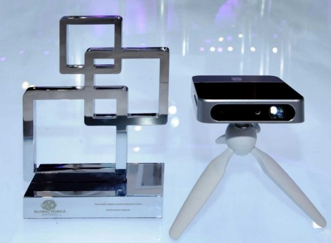 ZTE's smart projector wins 'Best Mobile Enabled Consumer Electronics Device' award at MWC 2015 (Phot ...