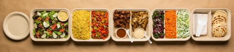 The catering spread from Yalla Mediterranean (Photo: Business Wire)