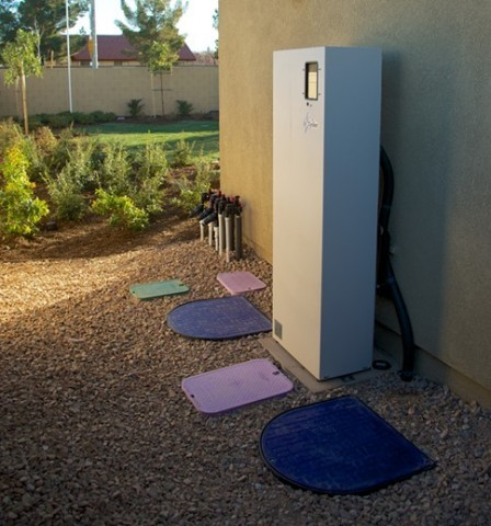 The Nexus water recycling system in Lancaster, California at KB Home's Double ZeroHouse 2.0 (Photo: Business Wire)
