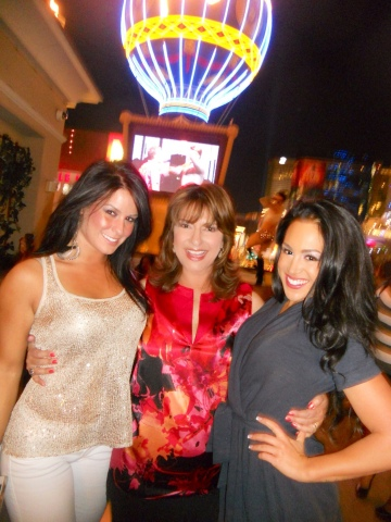 "Producer Sandy Sachs, (center) invites you to once again hit ""The Strip"" with the hottest women from around the world! Girl Bar, in association with Total Rewards by Caesars Entertainment, ignites Sin City with the ultimate lesbian weekend in the most extraordinary venues ever offered, as DINAH Vegas sizzles April 23-26, 2015 in fabulous Las Vegas, Nevada. (Photo: Business Wire)"