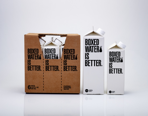 Boxed Water family of products now includes a 6-pack, 1-liter and 500mL (Photo: Business Wire)