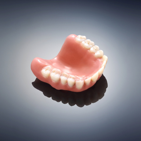 The Objet260 Dental Selection 3D Printer achieves precise surface quality and fine details with 16-micron accuracy. (Photo: Stratasys)