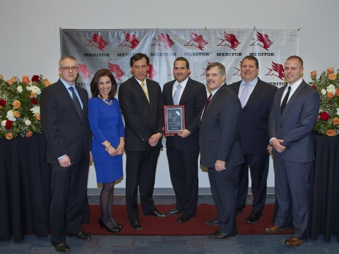 From left to right: Kris Tewkesbury - Sr. Director Procurement, Meritor Daniela Martinez - Director of Purchasing, Meritor Raul Lopez - Managing Director, Grede de Mexico Alejandro Perez - Senior Account Manager, Grede de Mexico Vito J. Parente - Vice President Heavy Truck Sales, Grede Holdings LLC Rob Speed - Vice President and Chief Procurement Officer, Meritor Ben Laurin - Sr. Buyer, Meritor (Photo: Business Wire)