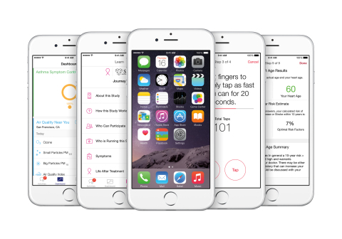 Apple introduces ResearchKit, giving medical researchers the tools to revolutionize medical studies. (Photo: Business Wire)
