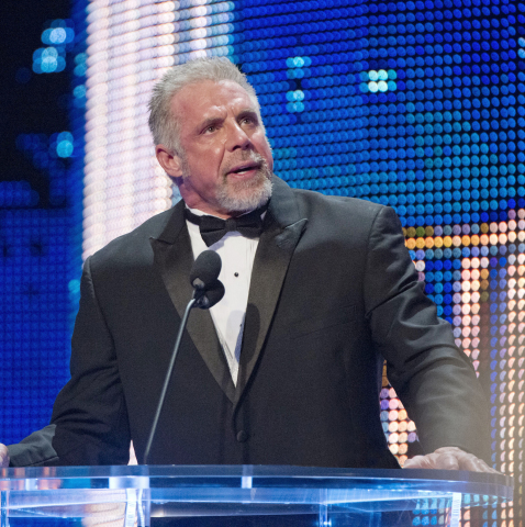 The Ultimate Warrior at the WWE 2014 Hall of Fame. (Photo: Business Wire)