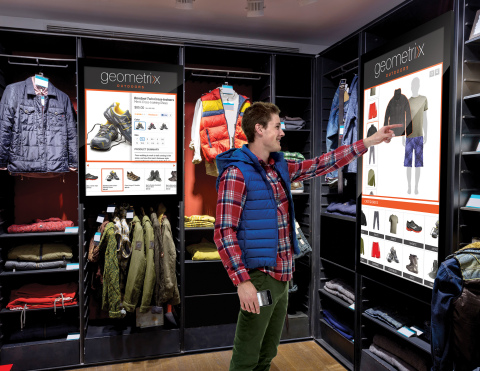The new Adobe Experience Manager Screens enables marketers to extend content experiences to touch-based screens in physical locations, such as retail stores and hotels. A single user interface with cross-screen support connects the content with mobile apps and brand experiences across the Web to ensure consistency. (Graphic: Business Wire)